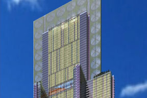 the 2020 tower with VIG facades